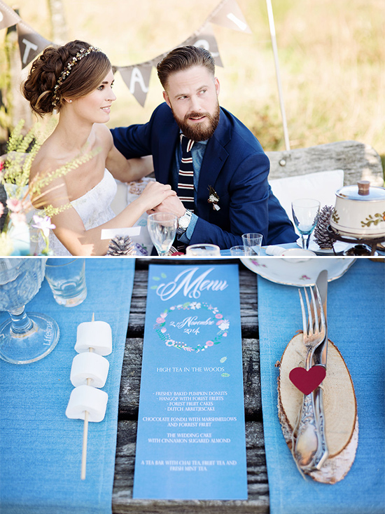blue wedding ideas @weddingchicks