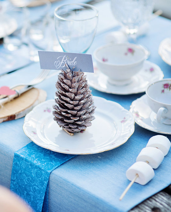 pine cone place card @weddingchicks