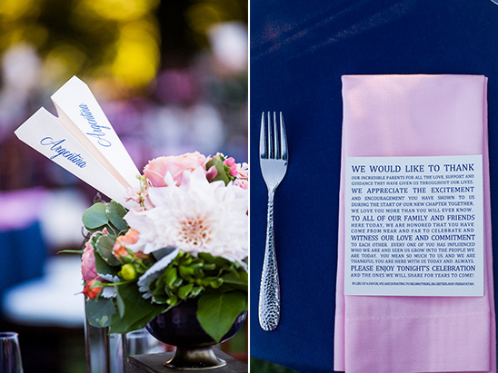paper airplain table names and thank you note @weddingchicks