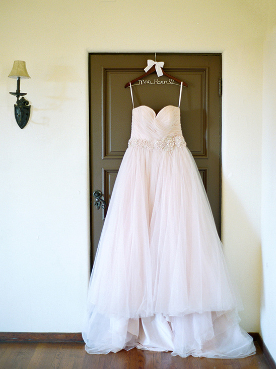 pink wedding dress by Allure Bridals Romance Collection @weddingchicks