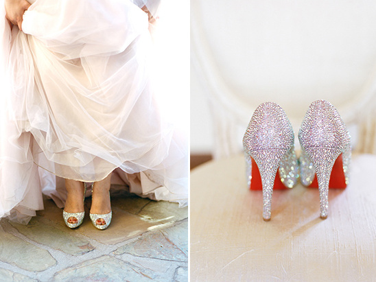 sparkle heels with red @weddingchicks
