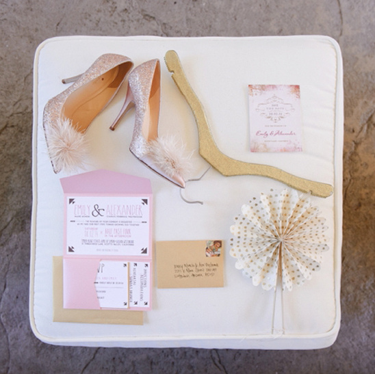 pink and gold wedding accessories @weddingchicks
