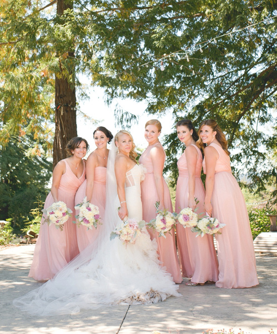 pink bridesmaids @weddingchicks