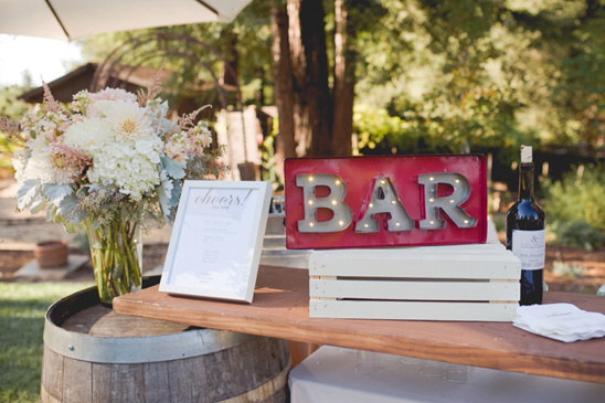 marquee bar sign @weddingchicks