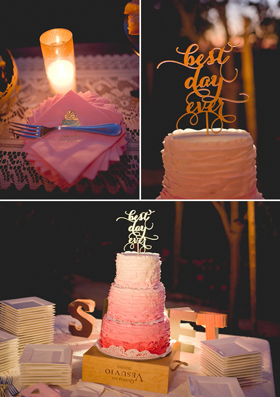 best day ever cake table @weddingchicks