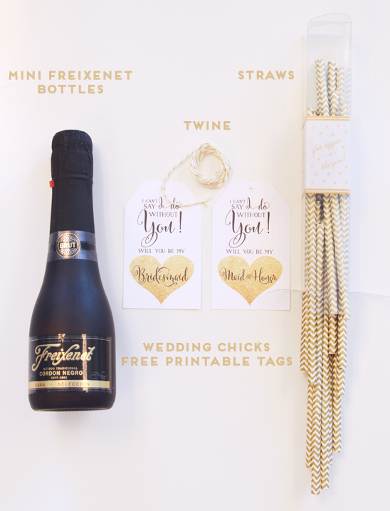 Freixenet DIY materials @weddingchicks