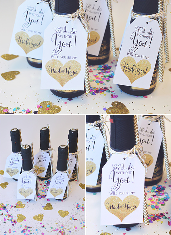 bridesmaid surprise for your gal pals @weddingchicks #alllovesparkles #freixenetusa #blackbottlebubbly