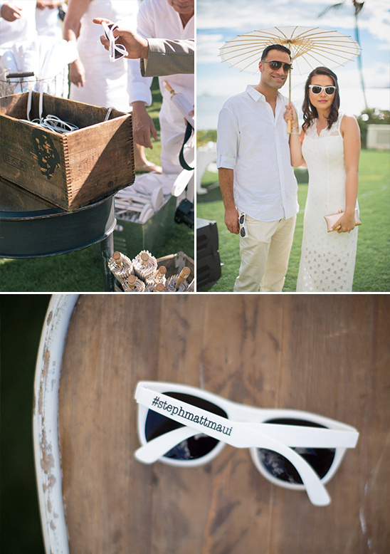 wedding parasols and custom wedding sunglasses @weddingchicks