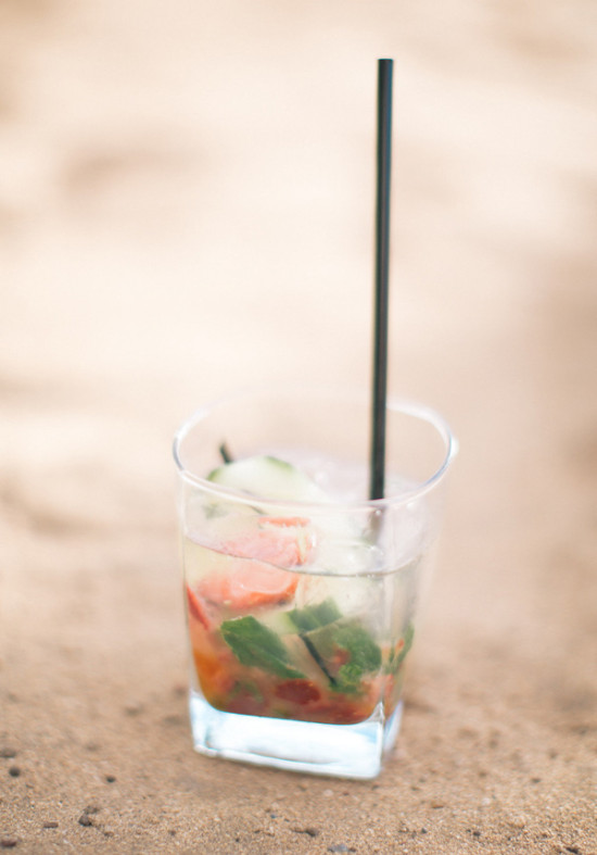 strawberry fauxjito punch @weddingchicks