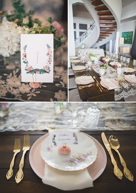 fine china and gold flatware reception decor @weddingchicks