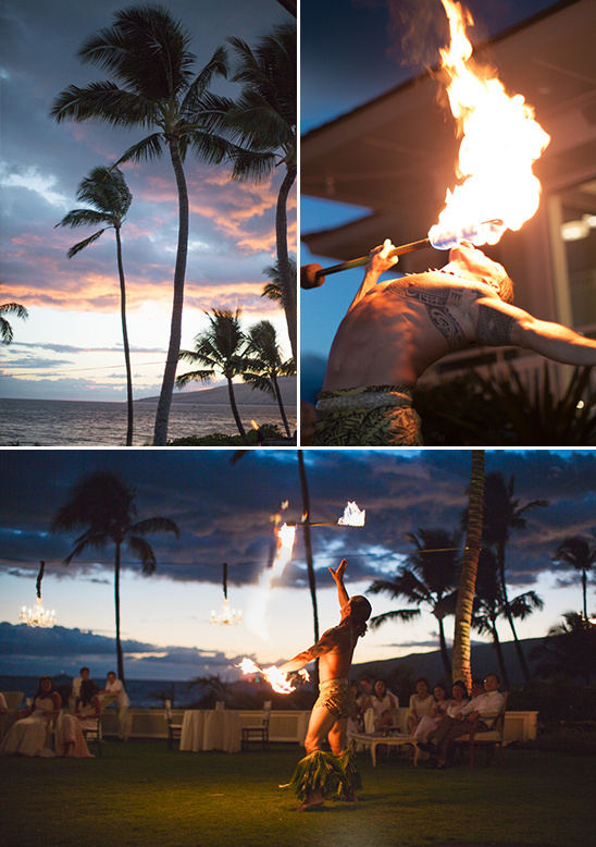 Hawaiian fire dance performance @weddingchicks