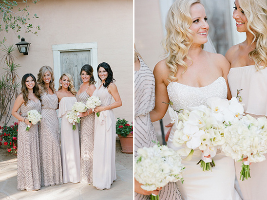 champagne colored bridesmaids @weddingchicks