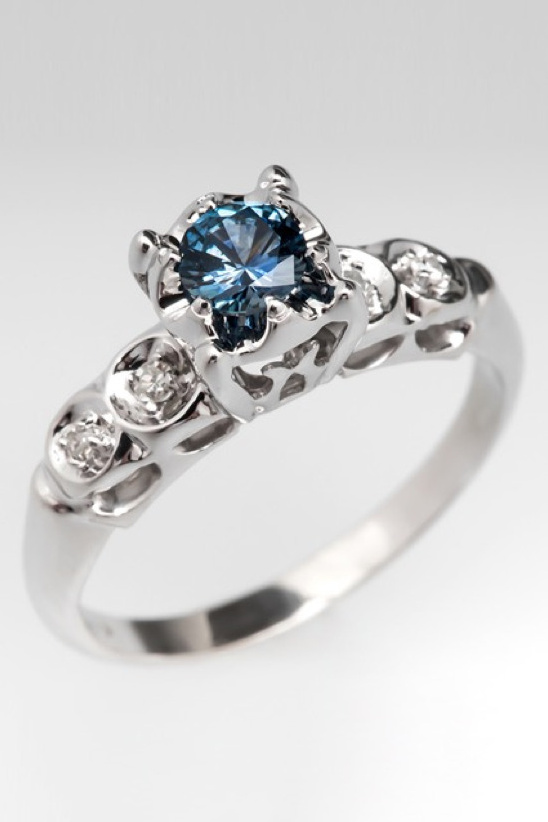 Genuine Montana sapphire engagement ring from EraGem. #wchappyhour