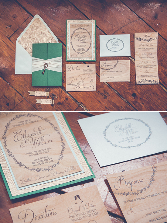 wooden wedding invites @weddingchicks