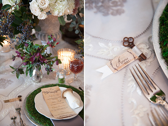vintage key place cards @weddingchicks