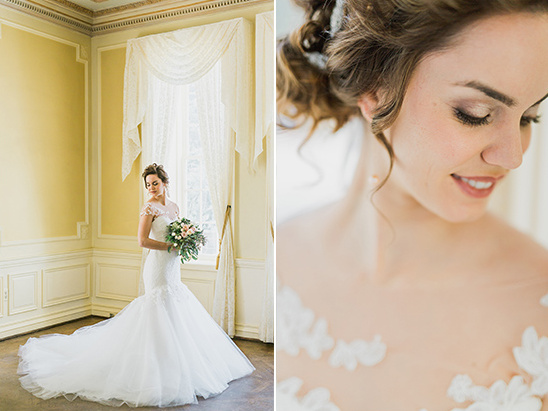 mermaid style gown from Kleinfeld Bridal Boutique @weddingchicks