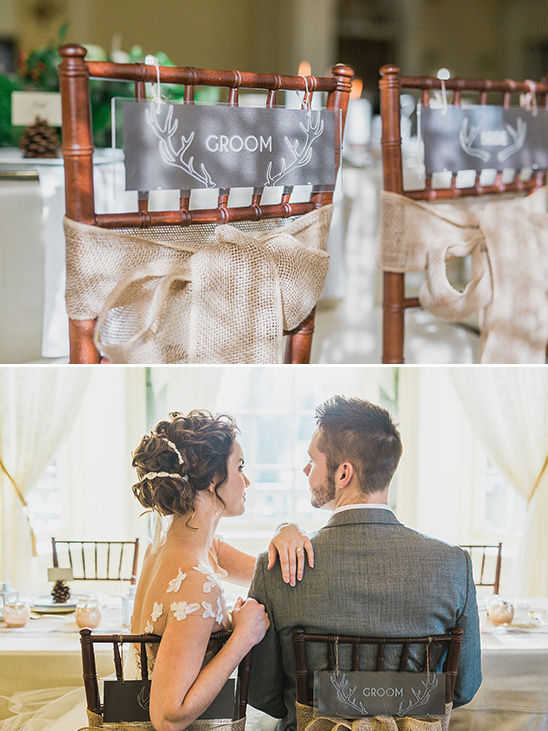 plexiglass bride and groom seat signs @weddingchicks