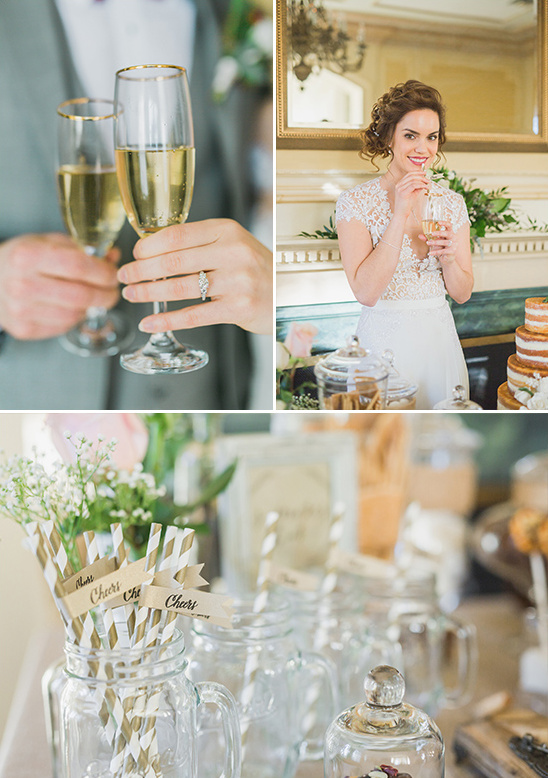 cute striped champagne straws @weddingchicks