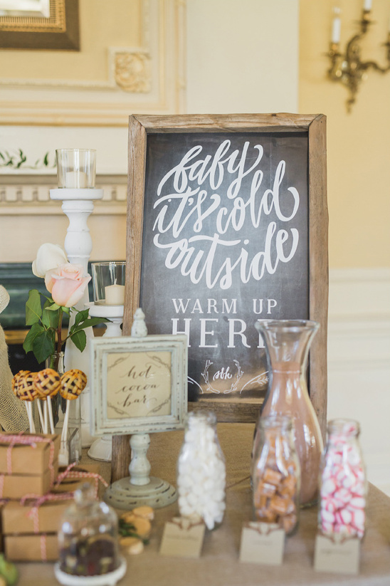 baby its cold out sign @weddingchicks