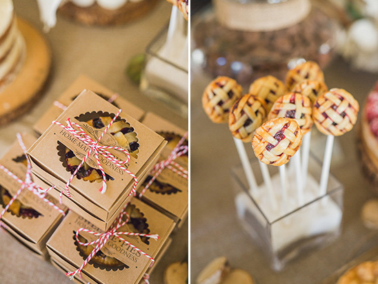 mini pies and pie pops @weddingchicks