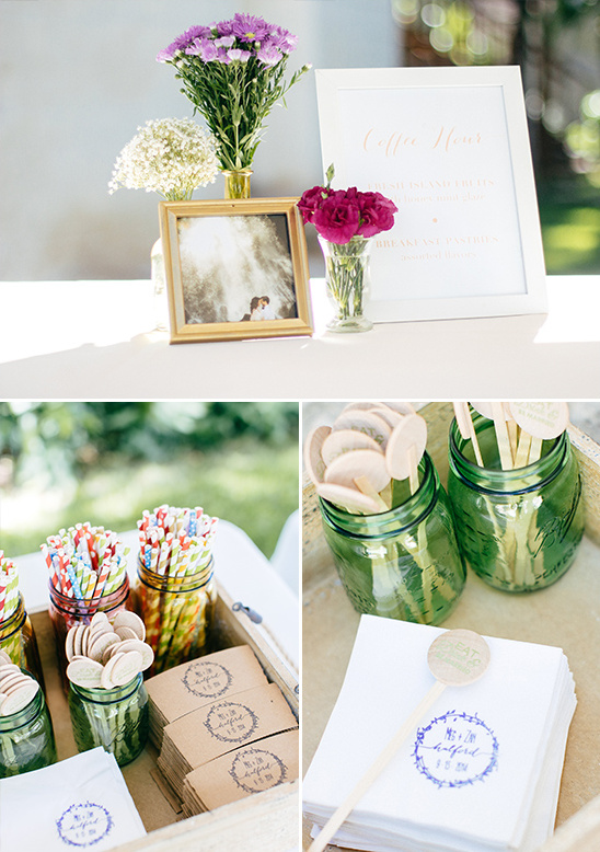 coffee hour table @weddingchicks