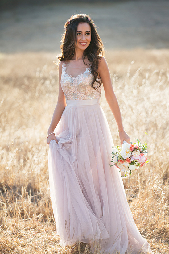 blush BHLDN gown @weddingchicks