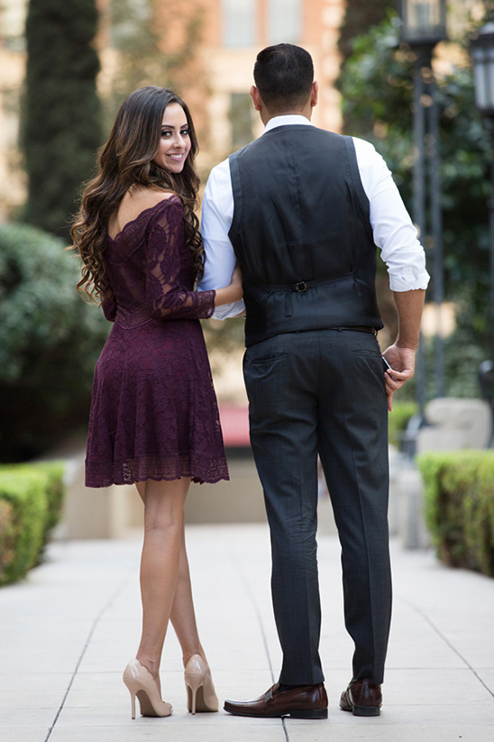 Free People dark purple engagement dress @weddingchicks