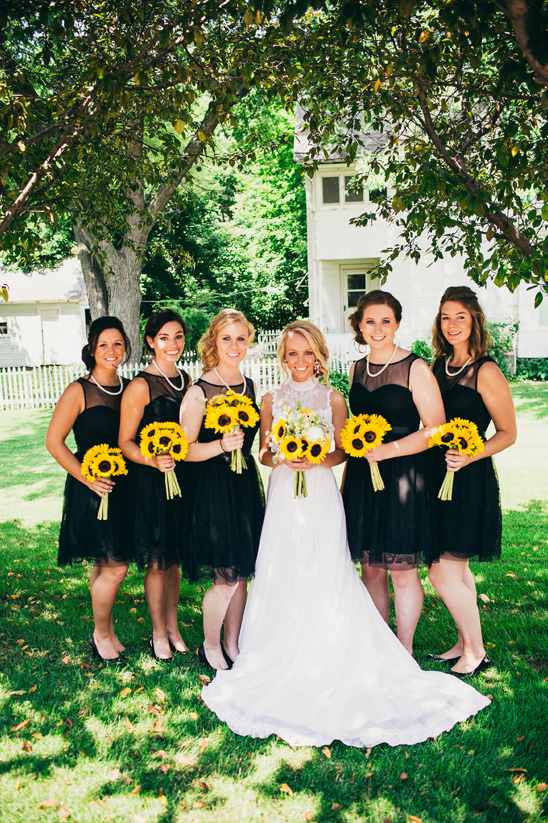 Bright Bright Sunflower Wedding Day
