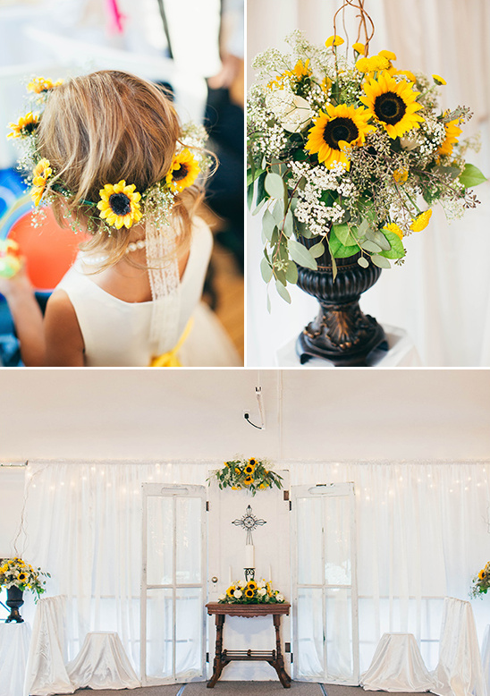 Bright bright sunflower wedding day sunflower themed wedding ceremony weddingchicks junglespirit Gallery