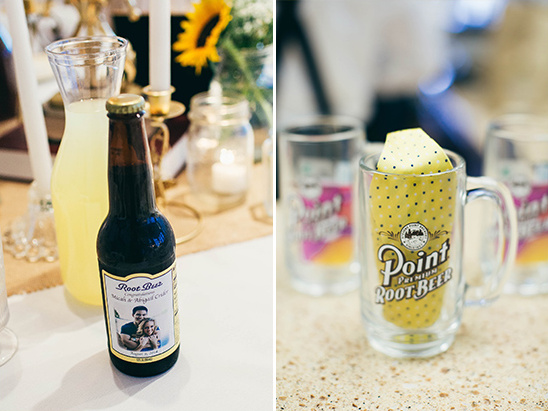 custome root beer lables and steins @weddingchicks