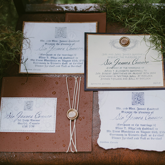 leather wedding invites @weddingchicks