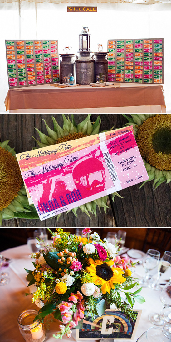 ticket will call escort cards and concert seating style table numbrs @weddingchicks