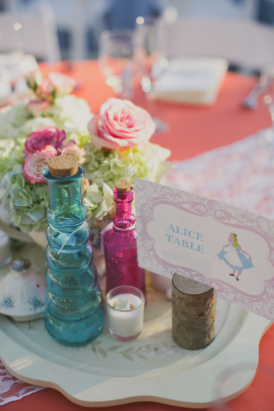 alice in wonderland tea party themed reception @weddingchicks
