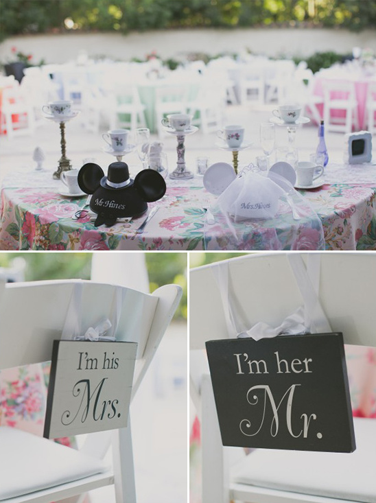 mr and mrs mickey themed sweetheart table @weddingchicks
