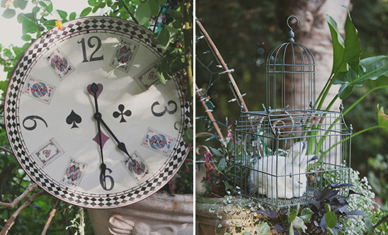 white rabbit and wonderland themed decor @weddingchicks