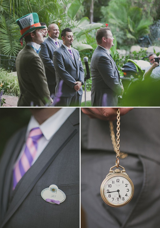 wonderland themed groomsmen @weddingchicks