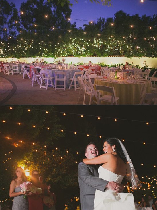 glowing courtyard reception @weddingchicks