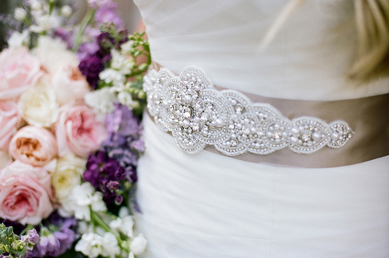jeweled sash @weddingchicks