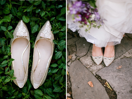 sparkly bridal flats @weddingchicks