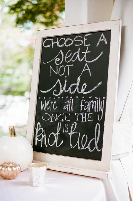 chalk seating sign @weddingchicks