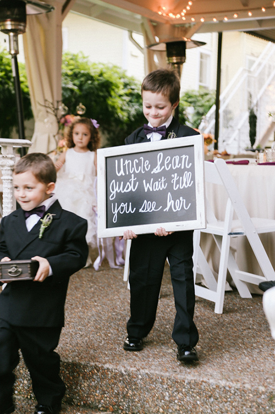 just wait sign @weddingchicks