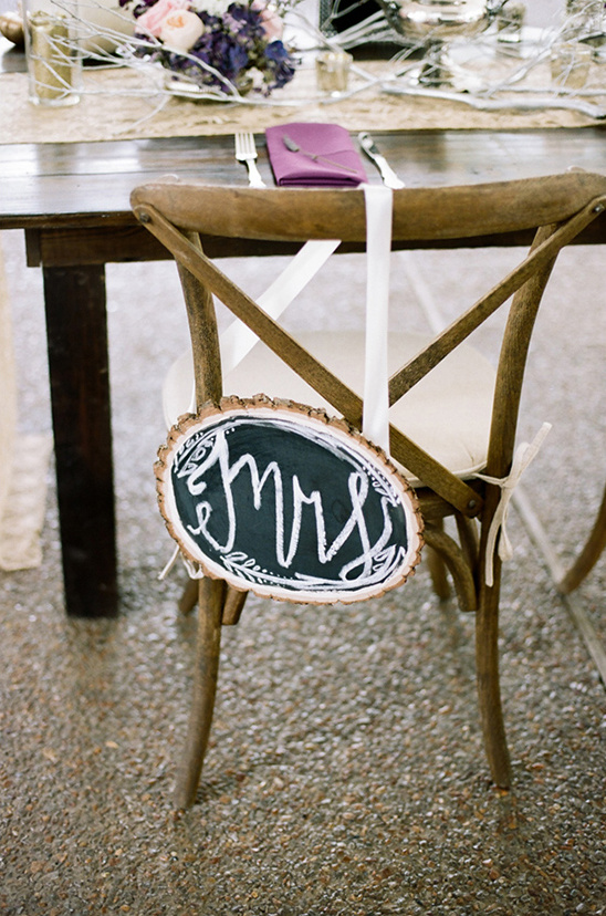 Mrs chair sign @weddingchicks