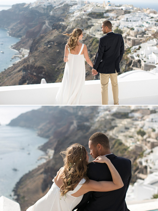 Santorini Cliffside view @weddingchicks