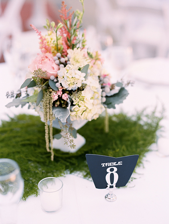 table number and flowers @weddingchicks