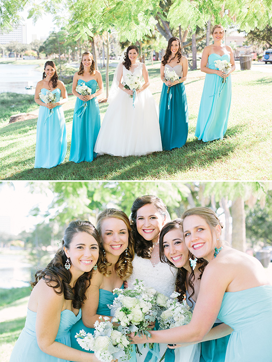 blue bridesmaidd dresses @weddingchicks