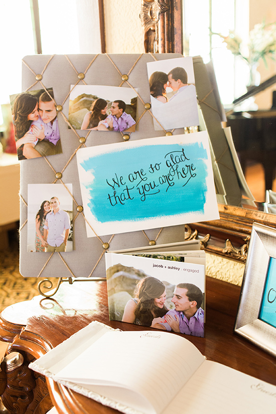 watercolor guest book @weddingchicks