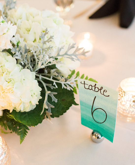 watercolor table number @weddingchicks