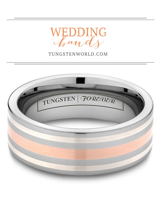Tungsten World Wedding Bands @weddingchicks