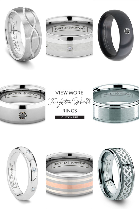 Tungsten World Engagement Rings @weddingchicks