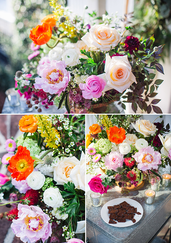 make your own large bloom flower arrangement @weddingchicks